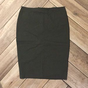 Forest green midi stretchy pencil skirt